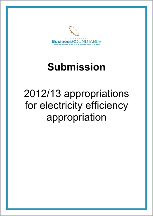 Submission 2012 13 Appropriations for electricity cover