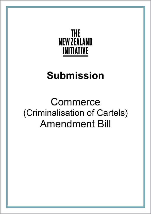 Submission Criminalisation of Cartels cover