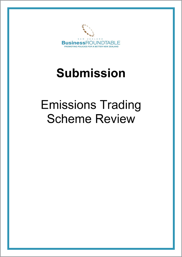Submission Emissions Trading Scheme Review cover