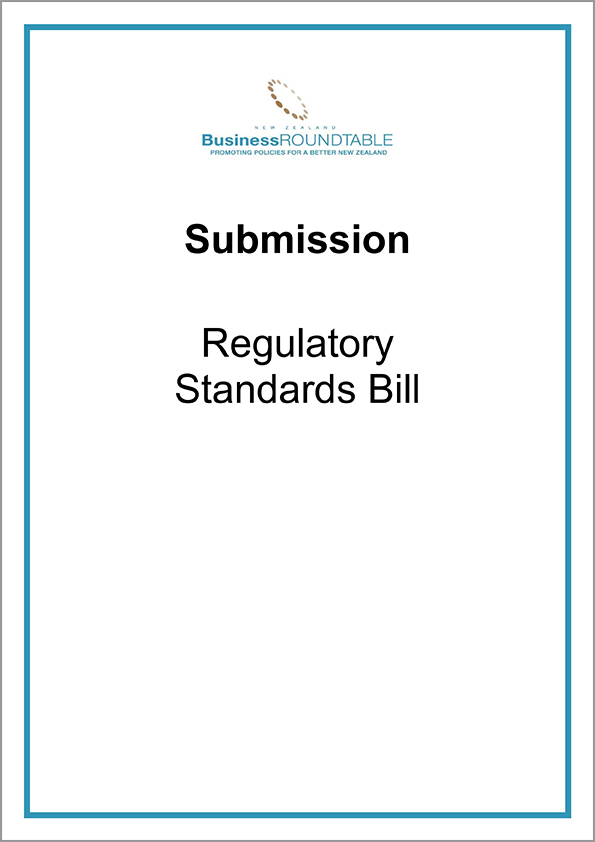 Submission Regulatory Standards Bill