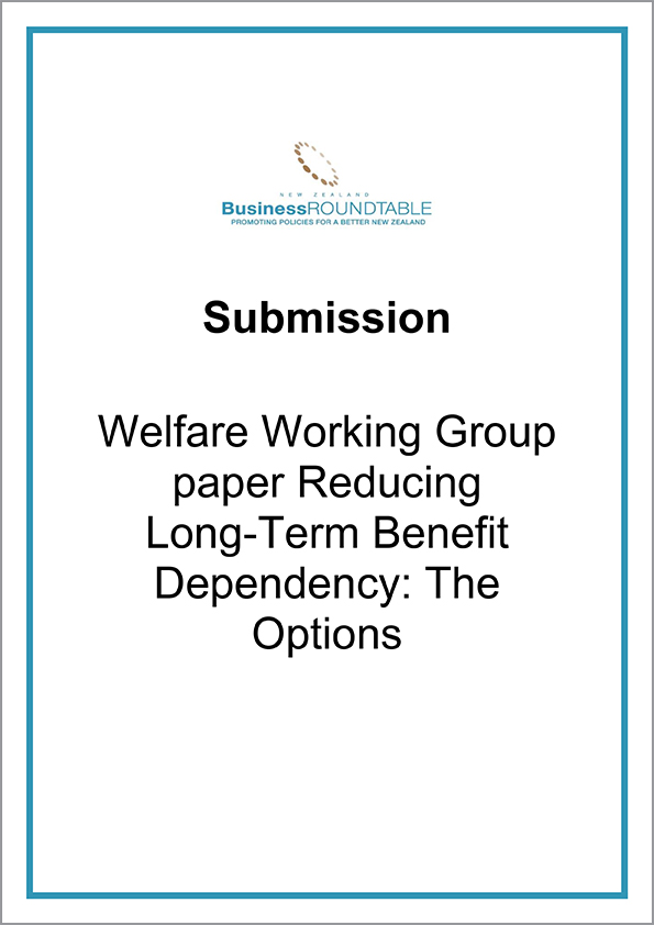 Submission Welfare Working Group Long Term Benefit Dependency The Options cover
