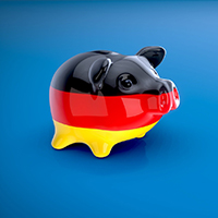 Germany piggybank