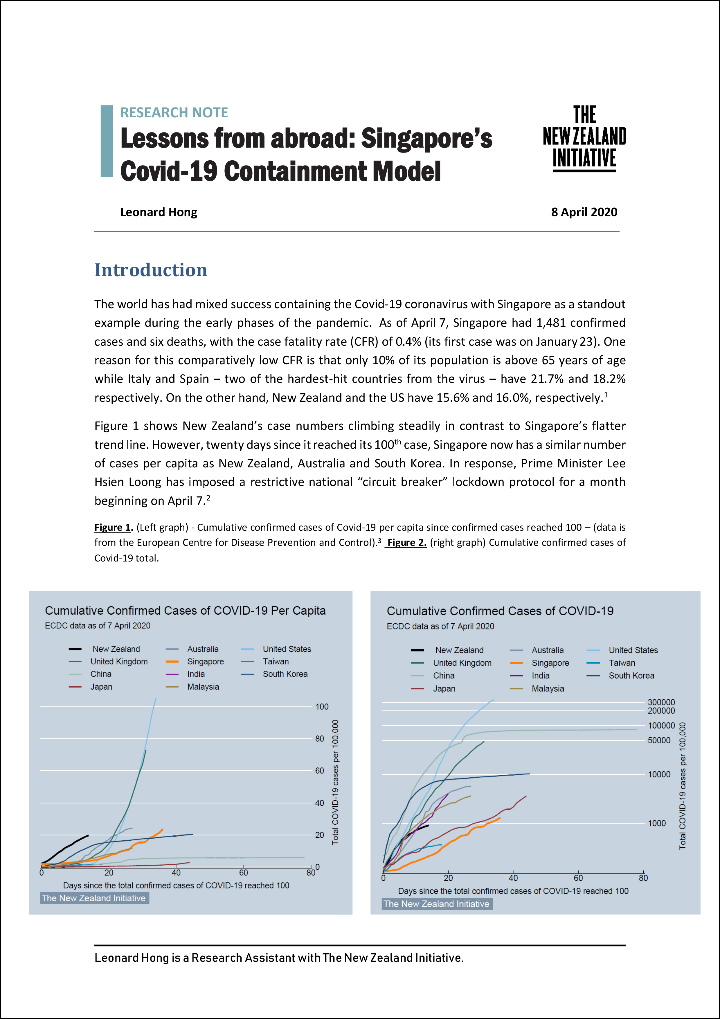 Lessons from abroad Singapores Covid19 Containment Model 1