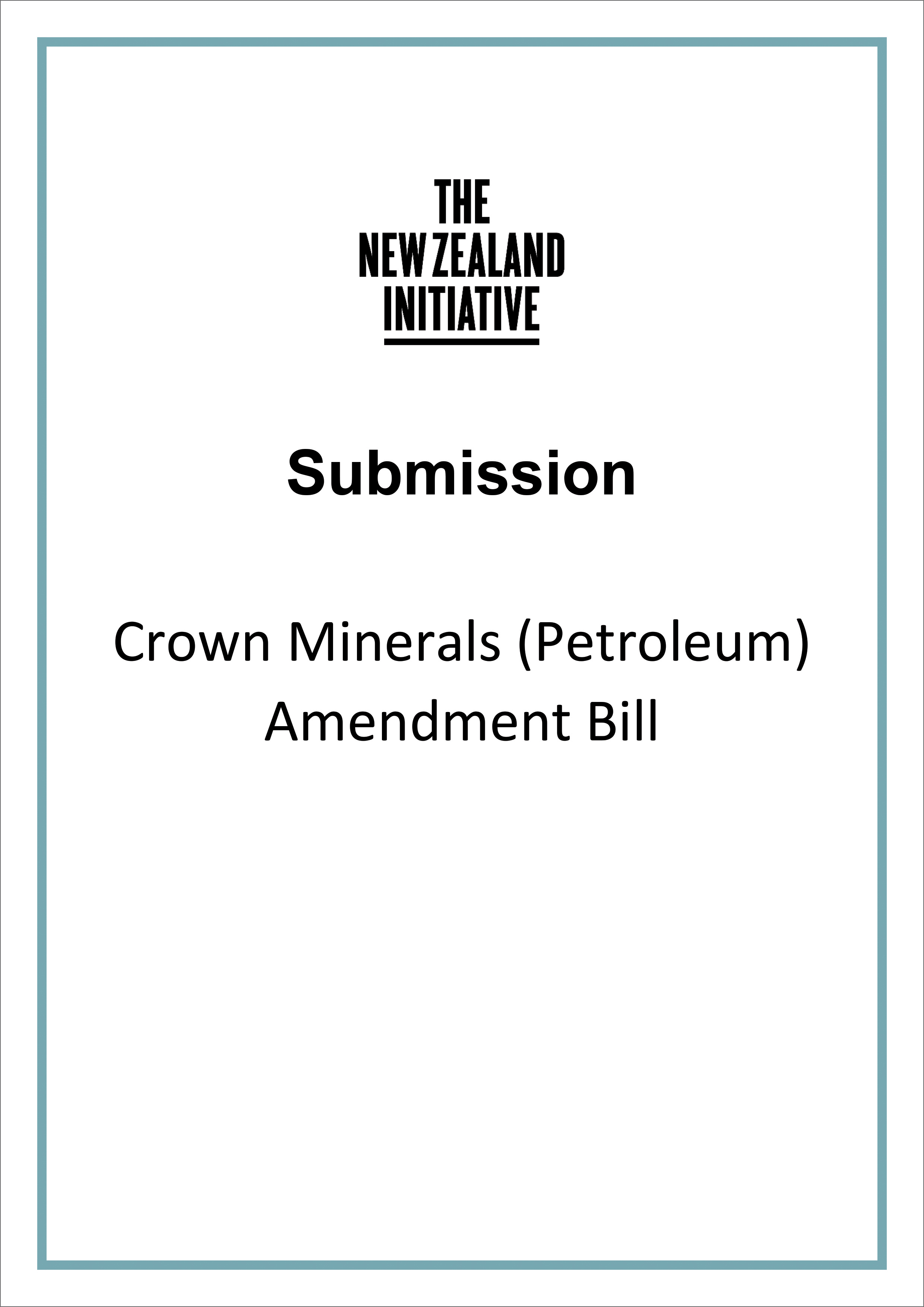 Submission cover Crown Minerals Petroleum Amendment Bill2