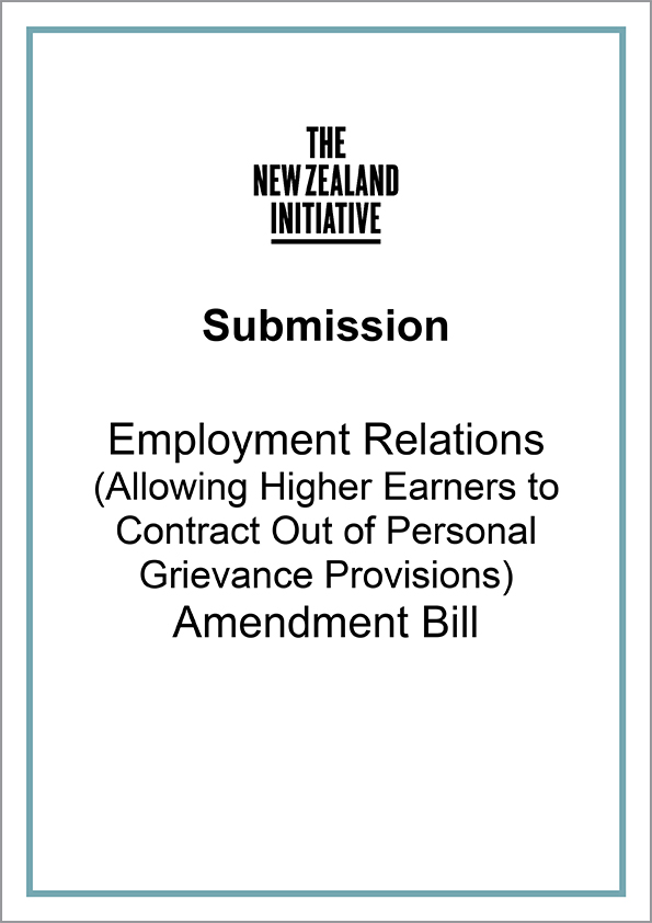 Submission Employment Relations Amendment Bill cover